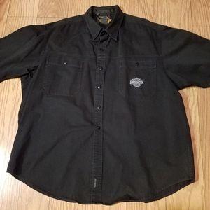 Black denim Harley-Davidson Mechanic Shirt